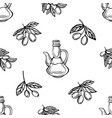 olive oil seamless pattern olive branch pattern vector image vector image