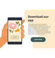 online shopping concept - download our app