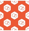 Orange hexagon wedding rings pattern vector image vector image