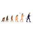 people evolution from monkey to business vector image