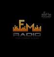 Radio logo Music equalizer emblem vector image