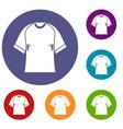 raglan tshirt icons set vector image vector image