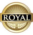 royal gold icon vector image vector image