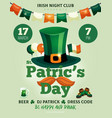 saint patricks party poster vector image vector image