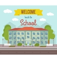 School Colored Poster vector image