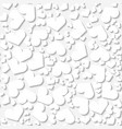 seamless white origami pattern with hearts vector image vector image