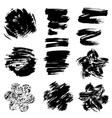 set grunge black color figures vector image vector image