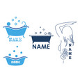 set of emblems for hygiene products vector image
