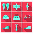 set with icons on theme of shopping and clothes vector image vector image