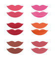 shades lipstick on white background vector image vector image