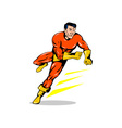 Super Hero Running Retro vector image vector image