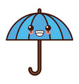 umbrella protection symbol kawaii cute cartoon vector image vector image