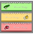 VegetableBanners2 vector image vector image