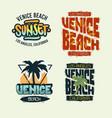venice beach california summer time beach life vector image vector image