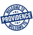 welcome to providence blue stamp vector image vector image