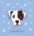 new year dog 2018 vector image