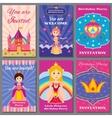 Child girl birthday princess party vector image