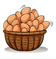 A basket full of eggs vector image vector image