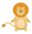 a beaming cartoon lion or color vector image vector image