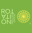 abstract ornamental green and yellow circle vector image