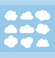 abstract white cloud icon collection set isolated vector image vector image
