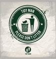 alternative tidy man stamp vector image vector image