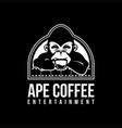 ape coffee logo mascot vector image
