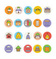 Architecture and Buildings Icons 6 vector image vector image