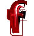 Artistic font letter f vector image vector image