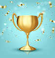 award cup champion prize winner icon vector image vector image