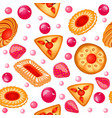 background seamless with fruit biscuits vector image vector image