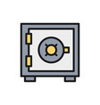 bank safe money deposit security box vector image