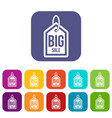 big sale tag icons set vector image vector image