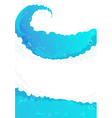 Blue water frame vector image vector image