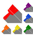 brush sign set of red orange vector image vector image