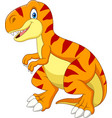cartoon tyrannosaurus isolated on white background vector image vector image