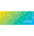 christmas and new year card outline baubles vector image
