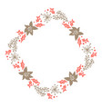 christmas hand drawn floral wreath winter design vector image vector image