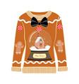 christmas ugly party seasonal sweater vector image vector image