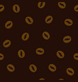 coffee seamless background with beans vector image vector image