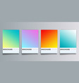 colorful gradient backgrounds set for flyer vector image vector image