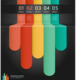 Colorful number options banner template vector image vector image