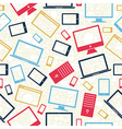 computer mobile and tablet icons seamless pattern vector image