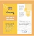cupboard company brochure title page design vector image vector image