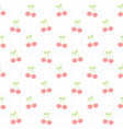cute cherry seamless pattern background vector image vector image