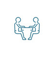 discussion of cooperation linear icon concept vector image vector image