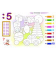 division number 5 math exercises for kids vector image vector image