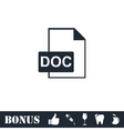 DOC file icon flat vector image