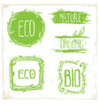 eco floral frame collection vector image vector image