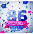 Eighty six years anniversary celebration on grey vector image